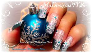 Winter Nail Art For Beginners | Snow and Snowflake Nails ♥ - YouTube