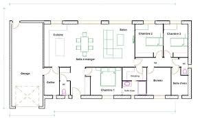 Plan Maison 100m2 Plein Pied En L Immobilier Pour Tous