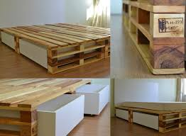 wood pallets furniture. pallet bed with storage more wood pallets furniture