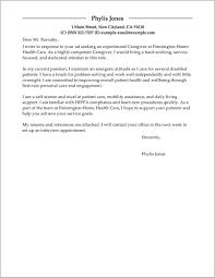 Sample Caregiver Cover Letter Resume Cover Letter Resume