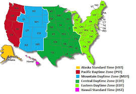 Us Military Us Military Time Zones