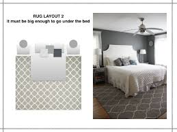 Beautiful Rug Under Bed Placement The Rules Of Layout It Must Be With Concept Design