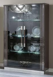 camel platinum slim italian 2 door glass cabinet