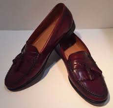 weejuns mens leather shoe vtg burdy tassel loafer 9 1 2 d 1 of 10only 1 available