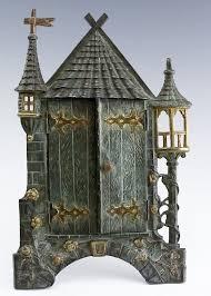 antique bronze castle sculptural picture frame by hill auction gallery 1301975 bidsquare