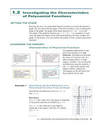 Polynomial Degree Chart 1 2 Investigating The Characteristics Of Polynomial Functions