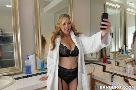 Mature Blonde MILF Julia Ann from BangBros Wearing Platform High.