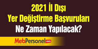 2021 İl içi yer değiştirme duyurusu yayımlandı