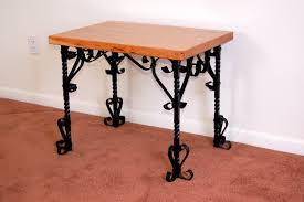 wrought iron and wood furniture. Above Triumph End Table With A Cherry Wood Top Wrought Iron And Furniture R