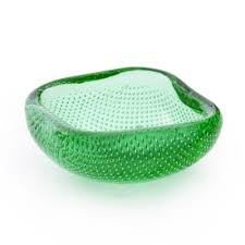 vintage green glass bowl by andries dirk copier for leerdam glass factory 1