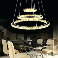 modern crystal 3 rings pendant light circle ceiling lamp chandelier led lighting large round glass