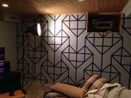 amazing wall design made masking tape viral hunger