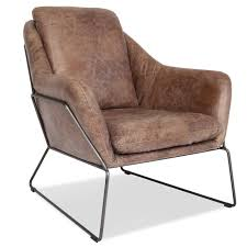 industrial modern furniture. Lionel Industrial Modern Leather Accent Chair Furniture O