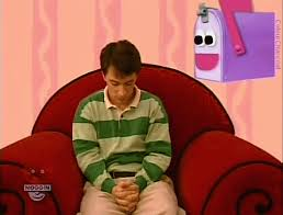 Mailbox blues clues Notebook Source Bluescluesgifs Steve Burns Mailbox Blues Clues Blues Clues Gif 1990s 2000s Movieweb Blues Clues Gifs