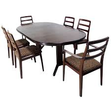 cool round table with 6 chairs of danish mid century modern rosewood round dining table set