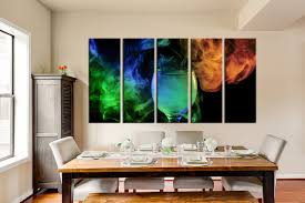 dining room canvas photography 5 piece wall art home decor champagne canvas print on wine and dine canvas wall art with 5 piece large canvas green canvas photography wine glass multi