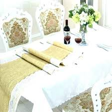 lace table runners for wedding burlap and cloth medium size of round tablecloths
