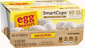 you also can find egg beaters in single serve smartcups they re the perfect way to help you control your portion sizes with 11g of protein and just 60