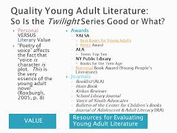 value resources for evaluating young literature personal versus literary value poetry of voice