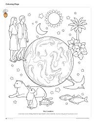 Days Of Creation Coloring Pages Free Creation Coloring Pages For