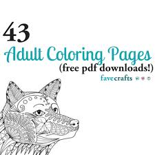 From animals, to sports, to flowers, there is no shortage of coloring pages for kids available at turtle diary. 43 Printable Adult Coloring Pages Pdf Downloads Favecrafts Com