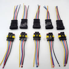 popular auto electrical wiring harness buy cheap auto electrical 5 sets 4 pin car waterproof electrical connector plug electrical wire cable car auto truck