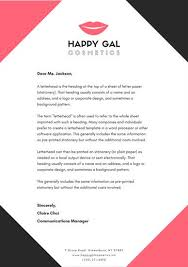 Business Letterhead Black And Pink Cosmetic Business Letterhead Templates By Canva