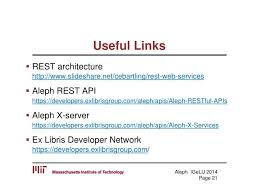 slideshare api ppt good fences make good neighbors 1 middleware for alephs rest