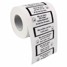 Crap Jokes Novelty Bathroom Toilet Loo Paper Roll Tissue Stocking Filler  Gift