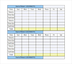 Monthly Timesheet Barca Fontanacountryinn Com