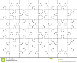 Blank Jigsaw Puzzle Template 12 Pieces | Found And Available