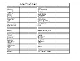 financial budget template financial budget worksheet pdf spreadsheet free personal