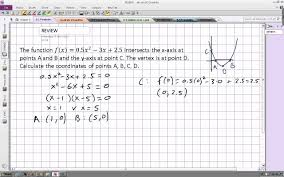 finding the coordinates of the vertex and x and y intercepts of a parabola you