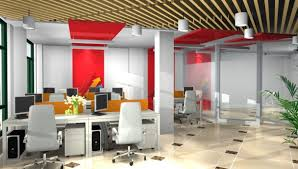 computer office design. office interior design computer desk 3d