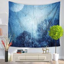 night scene wall tapestry forest printed rectangle polyester beach blanket large hanging wall cloth tapestries home decor hang tapestry hanging a tapestry