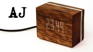 making a wooden digital clock