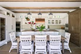 Neutral Coastal Living Space and Dining Room Pictures | HGTV Photos