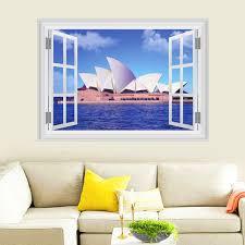 aliexpress com buy sydney opera house wall stickers home decor