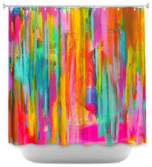 shower curtain unique from dianoche designs neon double abstract