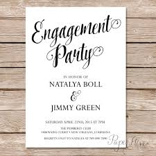 Engagement Party Invitation Template Modern Calligraphy Engagement Party Invitation Calligraphy 1