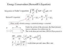 energy conservation bernoulli s equation