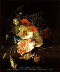 a carnation morning glory with other flowers painting reion rachel ruysch