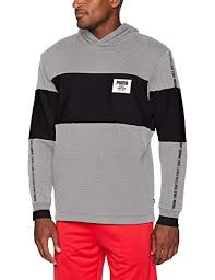 Rebel Sport Clothing Size Chart Puma Mens Rebel Block Fleece Hoodie Medium Gray Heather
