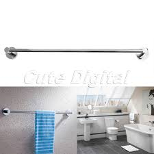 bath towel holder for wall. Stainless Steel Towel Rack Wall Mounted Bathroom Holders Single Rail Bars Bath Storage Shelf Accessories-in From Home Holder For A