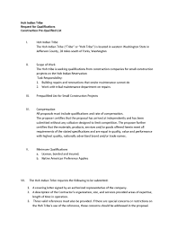 Areas Of Expertise List Request For Qualifications Construction PreQualified List Hoh Tribe 24