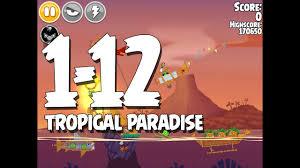 Angry Birds Seasons Tropigal Paradise Level 1-12 Walkthrough