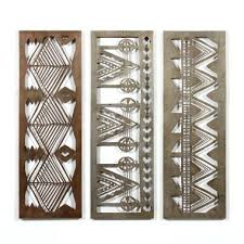 tribal patterns laser cut metal wall art set of 3 tribal patterns laser cut metal wall  on custom cut metal wall art with boys night out by darling wildlife laser cut metal wall art laser