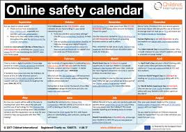 Schools Online Safety Calendar Updated For 2017 18 Childnet