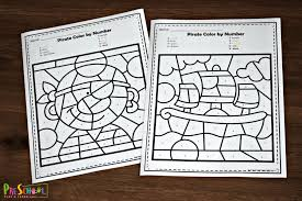 Discover the latest printable resources. Free Pirate Color By Number Worksheets