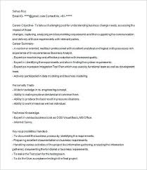 Cafe Attendant Sample Resume Gorgeous Business Analyst Resume Sample Analyst Resume Examples In